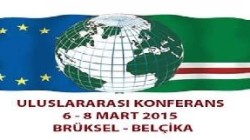 """Brüksel'de """"Uluslararası Çeçenya Konferansı"""" yapılıyor"""