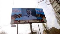Mahaçkale'de Stalin afişleri