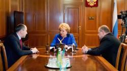 Raşid Temrezov Federasyon Konseyi başkanıyla görüştü