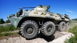 Askeri araç Çita sokaklarını karıştırdı
