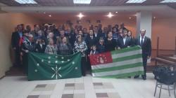 Nalçik'te Abhazya madalyası tevcih töreni