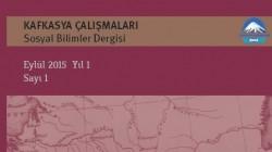 Kafkasya Çalışmaları dergisi ilk sayısını çıkardı