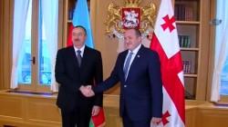 Azerbaycan Cumhurbaşkanı Aliyev Gürcistan'da