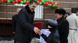 Nazran'da 28 aileye ev hediye edildi