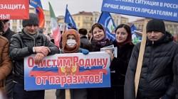Çeçenya'da Kadirov ve Putin'e destek mitingi