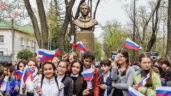 Çerkesk'te Gagarin heykeli dikildi