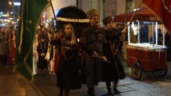 Çerkesler Taksim Rus konsolosluğu önünde sürgün ve soykırımı andı