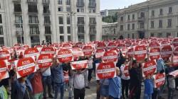 Gürcistan'da Abhazya ve Güney Osetya eylemi
