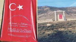 Dağıstan'daki şehitliğe Türk bayrağı asıldı