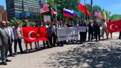 Ahıska Türkleri BM önünde gösteri düzenledi