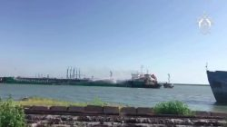 Dağıstan limanında petrol yüklü tanker patladı