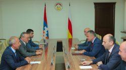 Karabağ heyeti Güney Osetya'yı ziyaret etti