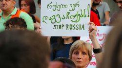 Tiflis'te protestolar 3. gününde devam etti