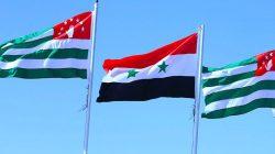 Abhazya yetkilileri Şam'da