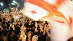 Gürcistan'da hükümet karşıtı protesto