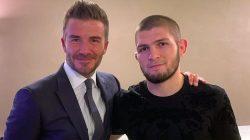 Khabib Nurmagomedov ile David Beckham bir araya geldi