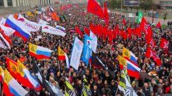 Moskova'da 20 bin kişilik protesto eylemi