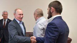 Putin'den Nurmagomedov'a tebrik ziyareti