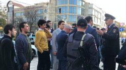 Mahaçkale'de Abdulmumin Gajiyev'e destek eylemi gerçekleşti