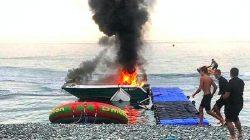 Soçi'de sürat teknesi patladı