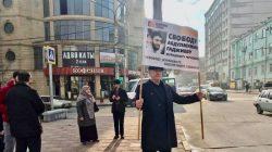 Mahaçkale'de Abdulmumin Gajiyev'e destek eylemleri sürüyor
