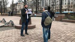 Moskova'da Abdulmumin Gajiyev'e destek eylemi yapıldı