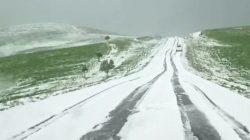 Elbrus'a Haziran ortasında kar yağdı