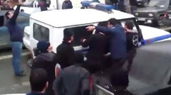 Mahaçkale'de cami basan polislere tepki