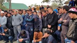 Terekli-Mektep köyündeki mitinge çevre köyler de destek verdi