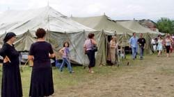 Açlık grevindeki Çeçen mültecilere baskı