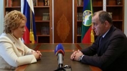 Federasyon Konseyi Karaçay-Çerkes başkanına onur madalyası verdi